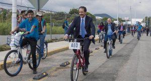Inauguran ciclovía en complejo regional de BUAP en Atlixco