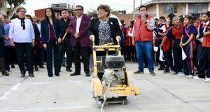 Inicia construcción de techo y canchas de secundaria en Atlixco