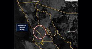 """""""Rosa"""" pasaría por Baja California como depresión tropical: SMN"""