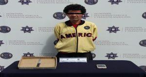 Policía municipal detiene a señalado de robo a transporte público