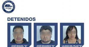 Detienen a tres presuntos ladrones de casa habitación en Puebla