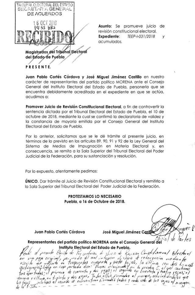 Impugnan Morena y Barbosa triunfo de Martha Erika como gobernadora electa