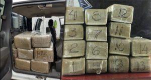 SSP asegura camioneta con 10 kilos de supuesta marihuana