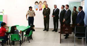 Sedena y gobierno estatal inauguran escuelas en la 25 zona militar