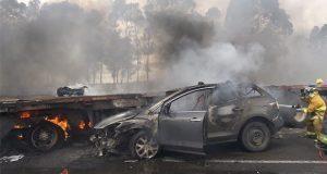 Choque en la Puebla-Orizaba deja al menos 1 muerto y 15 heridos