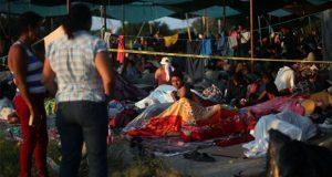 Caravana migrante pide transporte para ir a CDMX
