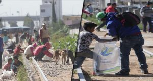 Saquean trigo de vagones del tren en San Pablo Xochimehuacan