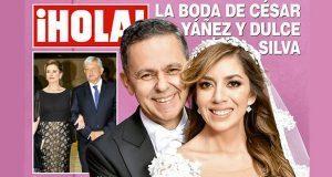 Revista muestra lujos de boda de César Yáñez