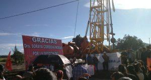 Antorcha gestiona tanque de agua elevado en San Salvador Huixcolotla