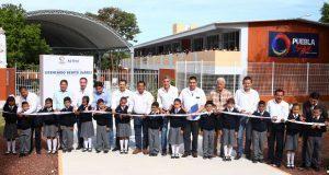 Gobierno estatal inaugura primaria reconstruida tras 19S en Chietla