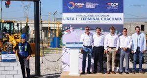 Gali colca primera piedra en terminal Chachapa de la L1 de RUTA