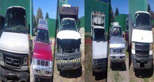 SSP asegura 7 unidades usadas por huachicoleros en Puebla