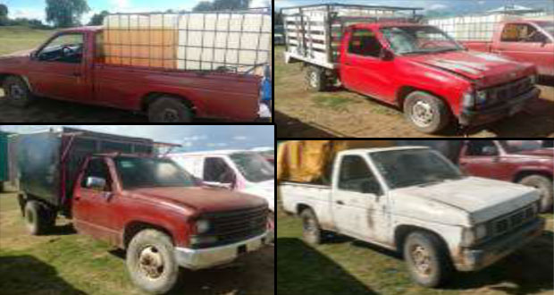 Aseguran 13 vehículos con huachicol en Texmelucan