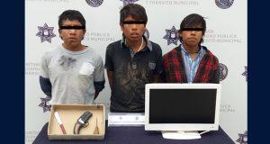 Ssptm detiene a tres presuntos violadores de una menor