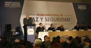 Guardia Nacional y amnistía, indica plan de seguridad y paz de AMLO
