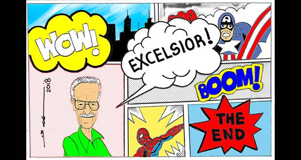 Caricatura: Adiós Stan Lee rey de los comics