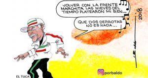 Caricatura: Tuca se despide del Tri con un tango