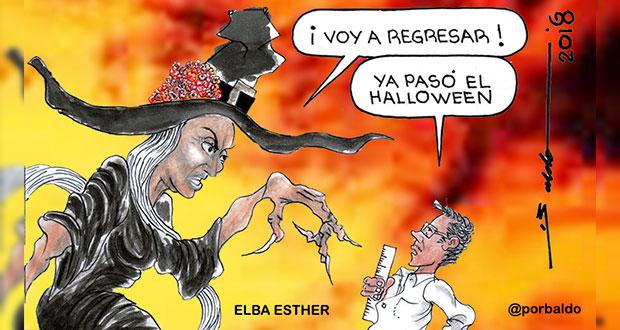 Caricatura: Elba Esther en su mejor época