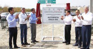 EPN, Gali, Blanco y Astudillo inauguran autopista Siglo XXI