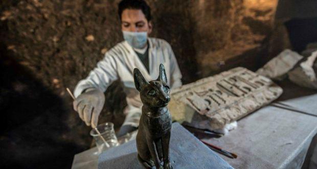 En Egipto, hallan momias de gatos y escarabajos de más de 4 mil años