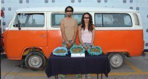 Detienen a 3 por transportar 2.3 kilogramos de posible marihuana