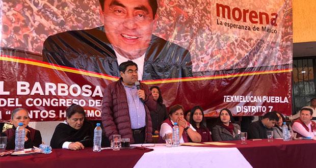 Poblanos, listos para nueva elección a gubernatura, sostiene Barbosa