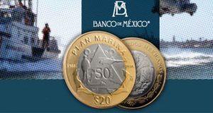 Ponen en circulación moneda de $20 que conmemora Plan Marina
