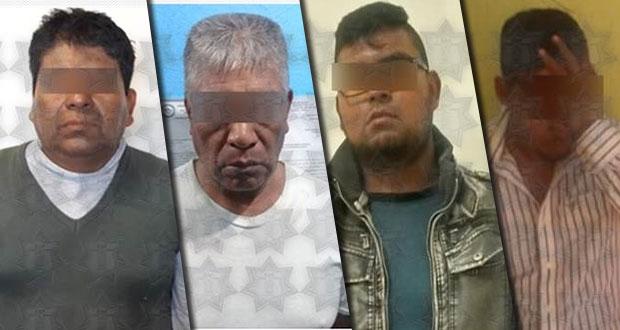 Aseguran a cuatro personas por distintos delitos en 4 municipios