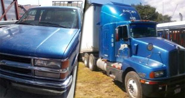SSP asegura ocho vehículos y cuatro personas en tres municipios