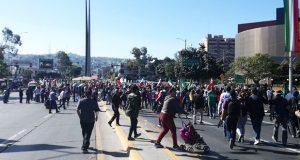 Tijuanenses marchan contra migrantes