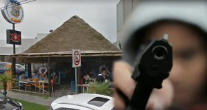 Difunden video de asalto armado contra comensales en Taco Cabo