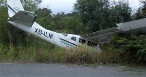 En Tamaulipas, avioneta se desploma y mata a 2 a bordo de moto