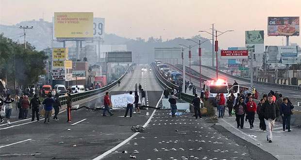 Por ingreso de Policía de CDMX, bloquean la México-Pachuca en Edomex