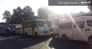 Transporte público se va a paro; demandan aumento de hasta 4 pesos en tarifa