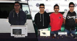 Detienen a 4 por robo a negocio en Belisario Domínguez y Temoxtitla