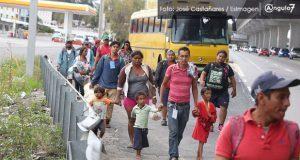 CNDH reitera llamado a Puebla por paso de la caravana migrante