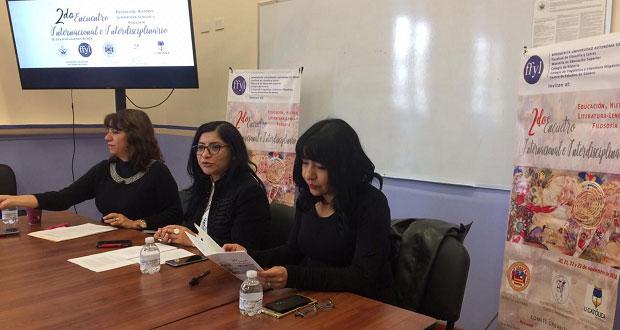 Del 20 al 22 de noviembre, encuentro de humanidades en FFyL-BUAP
