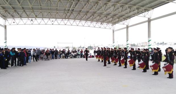 Antorcha organiza exhibición de bandas de guerra en El Triunfo