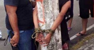 Rescatan a presunto ladrón de ser linchado en Bosques de Manzanilla