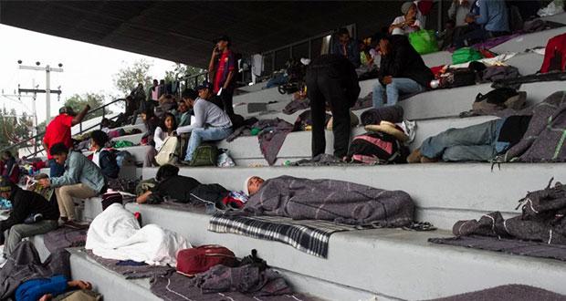 Suman 4,300 migrantes en albergue de CDMX