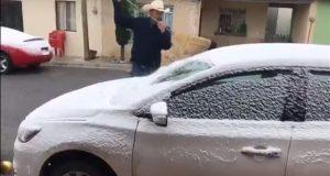 Por frente frío 10, caen primeras nevadas del año en 7 estados