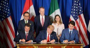 Tras 1 año de negociación, México, EU y Canadá firman acuerdo T-MEC