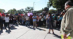 Antorchistas exigen a CFE en Tehuacán servicio doméstico de luz