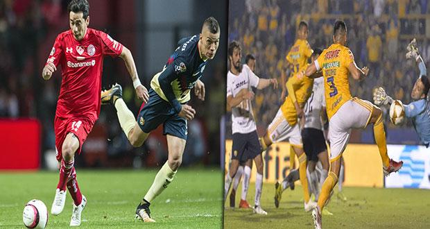 Toluca rescata empate ante America y Tigres le da la vuelta a Pumas