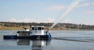Ponen en marcha saneamiento del lago Valsequillo