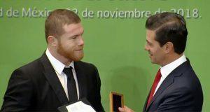 """El """"Canelo"""" Álvarez recibió el Premio Nacional de Deportes 2018"""