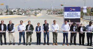 Tras 1 año de obras, inauguran bulevar Carmelitas en Puebla capital