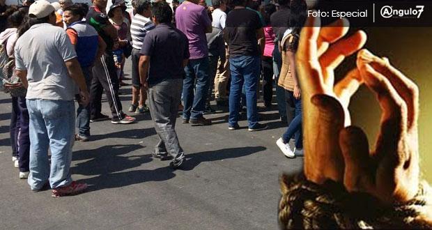 Señalado de robo es golpeado en Huixcolotla