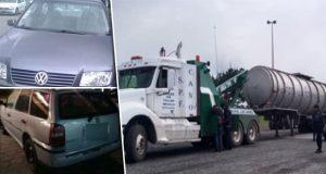 SSP recupera siete vehículos y un autotanque en Puebla