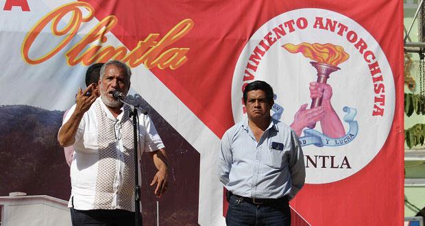 Con evento cultural, Antorcha festeja 28 aniversario en Olintla